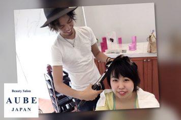 AUBEの瀬川君に動画インタビュー用のヘアセットしてもらいました