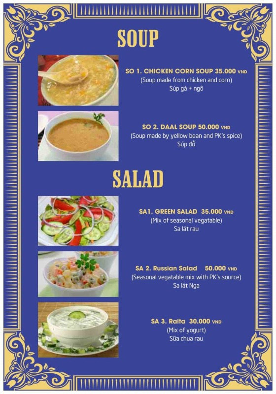 P.K menu3