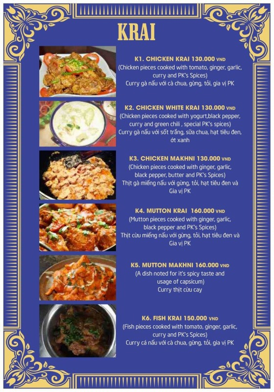 P.K menu6