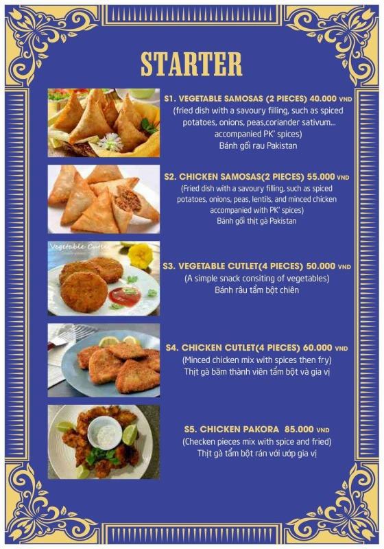 P.K menu7