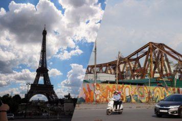 本当にロンビエン橋は、横たわるエッフェル塔なのか?比較してみた