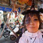 ハロウィーン衣装&メイクで、ハノイ旧市街を観光してきました!