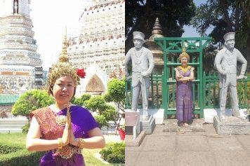 【タイ・バンコク】ワット・アルン(暁の寺)で格安・民族衣装体験!