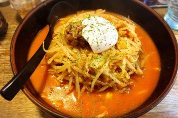 柳家 仙台東口店で『レアチーズキムチ納豆』ラーメンを食べました!